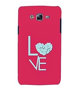 Love Heart 3D Hard Polycarbonate Designer Back Case Cover for Samsung Galaxy J7 J700F (2015 OLD MODEL) :: Samsung Galaxy J7 Duos :: Samsung Galaxy J7 J700M J700H