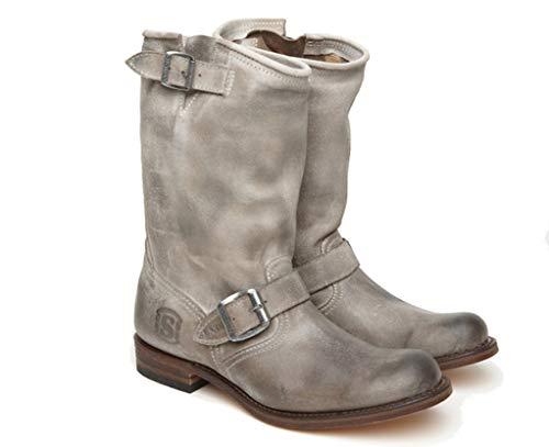 Sendra - Stivali da Motociclista in Morbida Pelle oliata 2944 JYJY Serraje Sabia Usato Nero Size: 39 EU