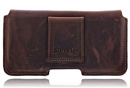 Burkley Vintage/Retro Look in pelle guscio cintura borsa per Apple Iphone 6/6S in 4,7pollici Custodia verticale Holster Custodia con Passante per cintura e clip Marrone / crazy brown