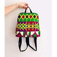 49d7a9ddde5 Sac à dos fashion wax tissu africain imprimé géométrique graphique