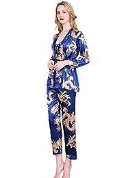 760127b962 GUCIStyle Lencería Mujer Sexy Ropa Interior Seda Pijama Tirantes Ropa De  Dormir Camisón Mujer Verano Corto Sexy Elegante Ropa Interior…