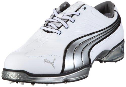 Puma Cell Fusion 184217 Herren Sportschuhe - Golf, Weiss/white-puma silver-black, 37 (Golfschuh White Comfort)