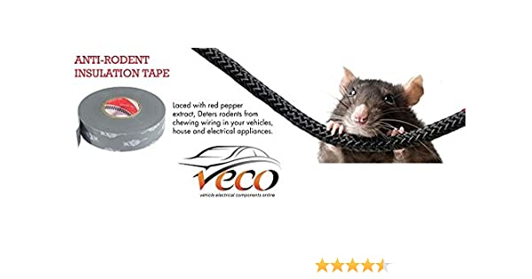 ANTI RODENT RATS MICE ELECTRICAL DETERRENT INSULATION TAPE CABLES WIRING  PIPES