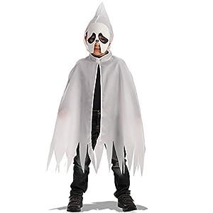 Carnival Toys - Juego fantasma: capa con capucha y máscara de foami en bolsa, 70 cm, color blanco (663)