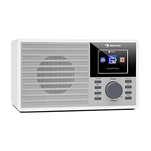 auna IR-160 • Radio Internet • WiFi • USB • MP3 • AUX • Alarma • Streaming • Pantalla TFT • Air Music Control App • Mando a Distancia • Blanco