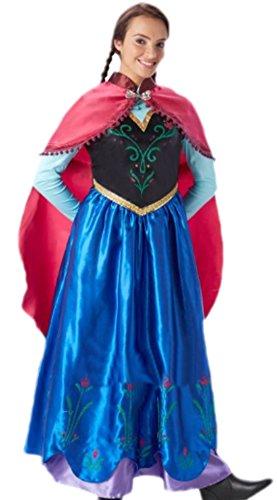 n Abenteuer Prinzessin Mittelalter Kostüm, L, Mehrfarbig (Prinzessin Tiana Halloween-kostüme Für Erwachsene)