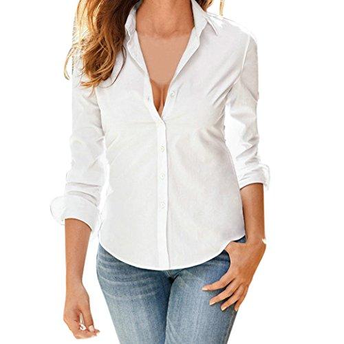 JiaMeng Damen Long Sleeve Shirt Formelle Büro Arbeitskleidung Uniform Damen Casual Top