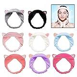 LHKJ 8 Stücke Elastisch Make-up Haarband,Samt Kosmetik Kopfband Kosmetische Stirnband für Frauen