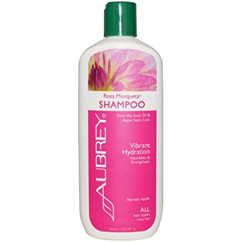 Aubrey Organics - Shampoo Rosa Mosqueta vibrante idratazione Harvest Apple - 11 oz.