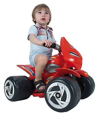INJUSA - Quad Alien para niños de 1 a 3 años, batería 6V, Rojo (126)