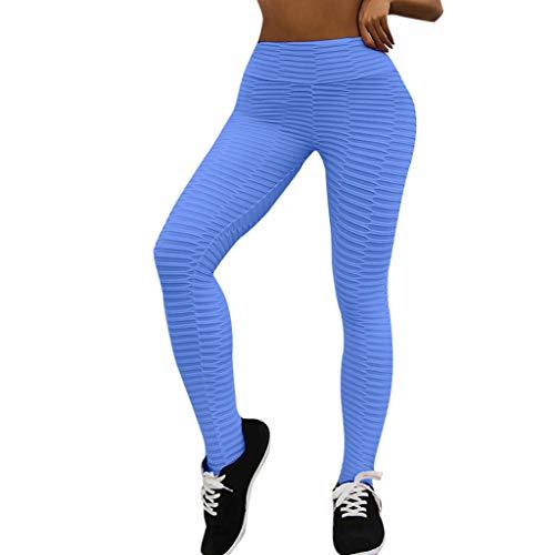 Leggings Damen,Nahtlos Yoga Hosen Strumpfhosen Fitness-Hose Sweathose Frauen Hohe Taille Kontrolle Abnehmen Taille Sweathose Hüfte anheben Jogginghose Freizeithosen
