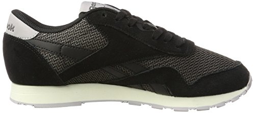 Reebok Damen Classic Nylon Breathability Sneaker Schwarz (Black/urban Grey/whisper Grey/chalk)