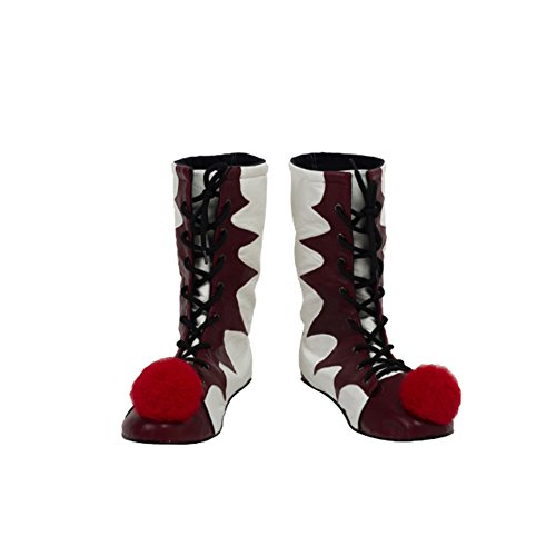Halloween Clown Rote&Weiß Cosplay Stiefel Verrücktes Kleid Schuhe Merchandise für Erwachsene 2017 Female 38 (Erwachsene Pennywise Clown Kostüme)