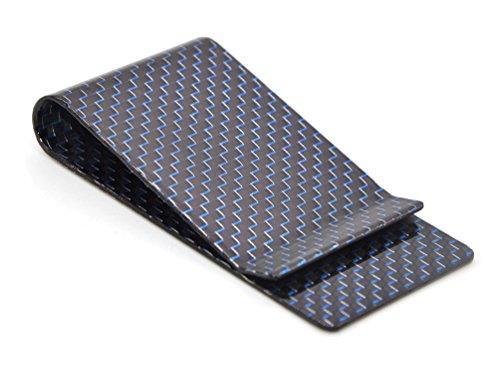 Medifier Carbon Faser Geld Klipp Kreditkarte Visitenkarte Bargeld Halter Geldscheinklammer L Blau