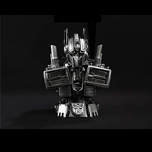 Qivor Transformers 4 Optimus Prime Büste Modell Dekoration 18cm Realistische Statue Anime Dekoration Puppe (Color : Silver) (Prime Transformers Optimus 4)