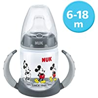 NUK 10215268 Disney Mickey Mouse First Choice Trinklernflasche, BPA frei, ab 6 Monate, 150 ml