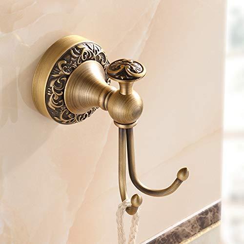 HCZ Zlgbat Badezimmer Supplies Wc-Badezimmer Moderne Antiken Messing Mantel/Hut Handtuchhalter Wand Wohnzimmer Robe/Kleidung Haken, A,D - Antik Messing-mantel