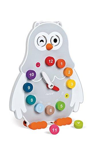 "Janod - Reloj ""Owly Clock"" para aprendizaje (J08132)"