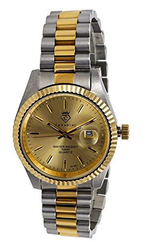 CAVADINI Herren Armbanduhr Leonardo Analog Quartz mit