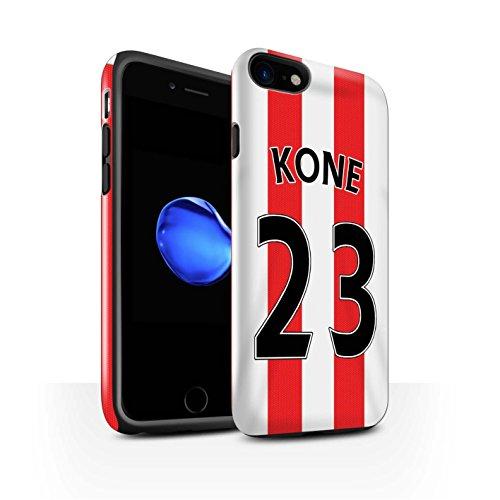 Offiziell Sunderland AFC Hülle / Glanz Harten Stoßfest Case für Apple iPhone 7 / Torwart Muster / SAFC Trikot Home 15/16 Kollektion Kone