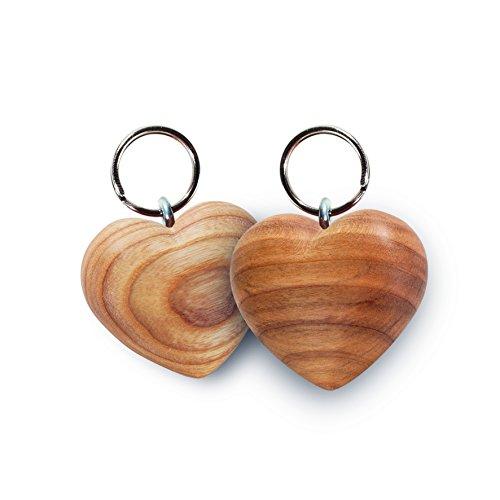Schlüsselanhänger Herz aus Zierholz geölt, ideal als Geschenkidee