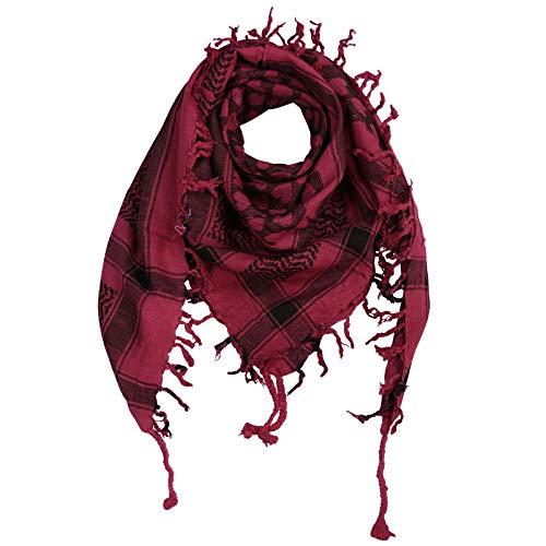 Superfreak Palituch - Herzen rot-bordeaux - schwarz - 100x100 cm - Pali Palästinenser Arafat Tuch - 100{77a41921e1a742da7aa88de33fc5fe6e02f90097deecf993c956ec8c5e61c5f9} Baumwolle