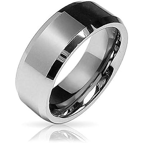 Bling Jewelry Smussato Centro Riva Comfort Fit Tungsten Wedding Band 8 millimetri