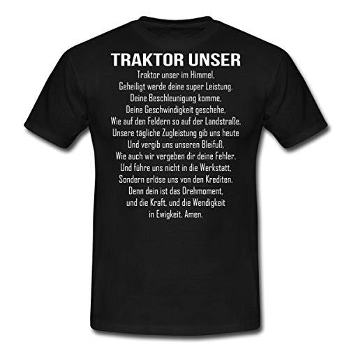 Spreadshirt Traktor Unser Witziger Spruch Bauer Männer T-Shirt, M, Schwarz