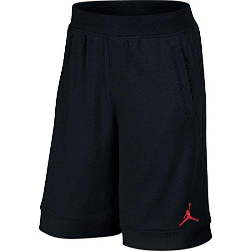 Nike - Jordan Fleece, Herren Shorts,Schwarz/Rot (Black/Gym Red), S (Jordans Schwarz Und Rot)