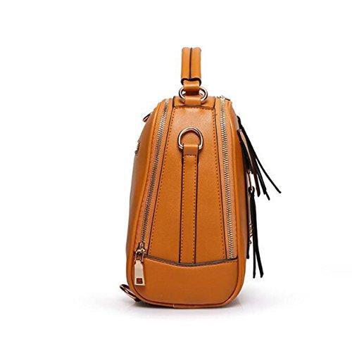 Art Und Weisehandtasche Diagonale Paketnietschulterbeutel Einfaches Wildes Brown