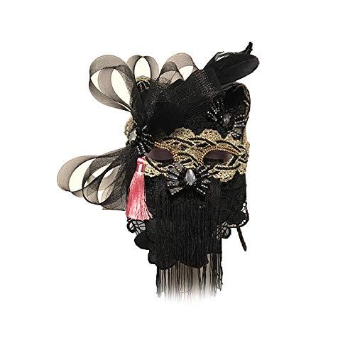 Iceclubs Maske - Fox Cat Party Maske - Weihnachten / Halloween / Karneval - Schwarz,Maskerade Maske Musical Party Glocken Mardi Gras Party Venedig Prinzessin (Cats Musical Kostüm Machen)