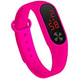 LED Uhr Sportuhr Wasserdichte leuchtende Digitaluhr Armbanduhr (Rose Red)
