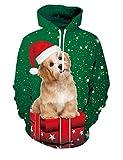 Rave on Friday 3D Hoody Jungen Sweatshirt Hund Drawstring Casual Pullover Jumper Bekleidung für Familie mit Tasche M
