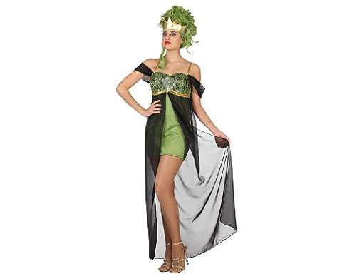 Atosa 22824 - Medusa Kostüm, Größe XS-S, grün (Griechische Göttin Kopfschmuck Kostüm)