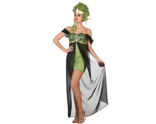 Kostüm, Größe XS-S, grün (Medusa-kostüm Für Erwachsene)