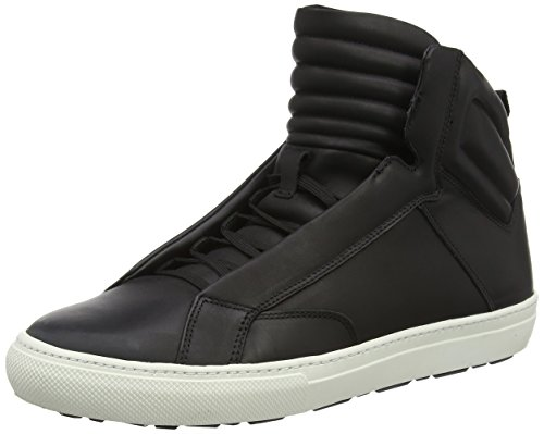 Aldo Qelalle, Sneakers Hautes homme Noir - Black (Black Leather/97)