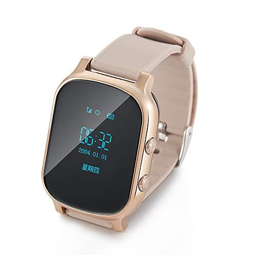 Yehyep GPS WiFi Verfolger-intelligente Uhr, scherzt persönliche Verfolger-T58 G/M, das die Uhren der SIM Karten-Smartwatch-Kinder für IOS-Androides Telefon aufspürt,B