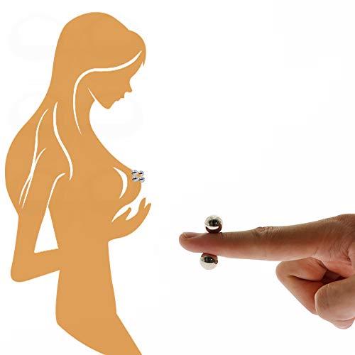 ZWFUN 4 Stücke-Magnetische Nippel Klemmen BDSM Bondage Brustpumpe Bruststimulation - Erwachsene Sex Spielzeug Für Frauen Paare Spiele Ultra Leistungsstarke Kugeln Kugeln Vagina Klitoris