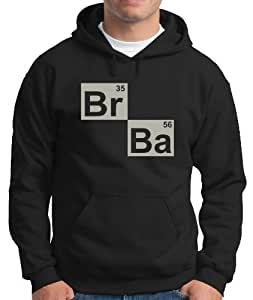 Touchlines Men's Hoodie Breaking Bad BR BA Heisenberg Principle black / silver Size:XXXL