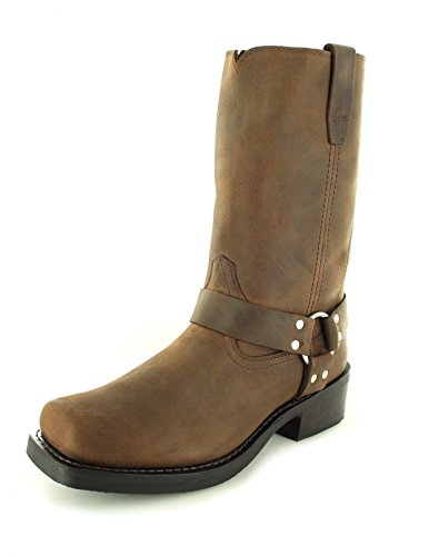 FB Fashion Boots Durango Boots Harness DB594 D Brown/Herren Bikerstiefel Braun/Motorradstiefel/Biker Boots Brown (Weite D)
