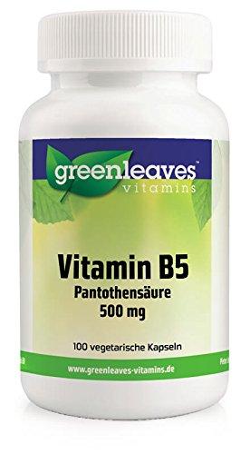 Vitamin B5 Panthothensäure 500 mg