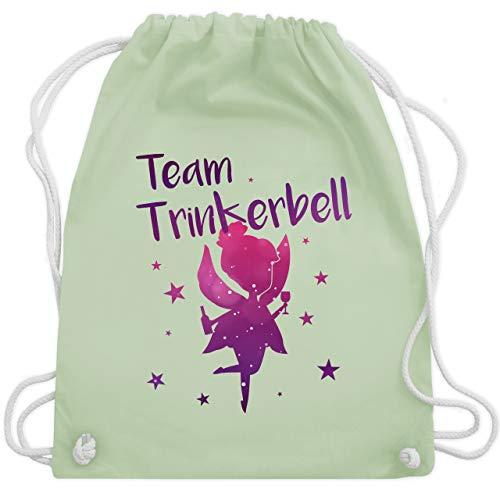 JGA Junggesellinnenabschied - Team Trinkerbell - Unisize - Pastell Grün - WM110 - Turnbeutel & Gym Bag