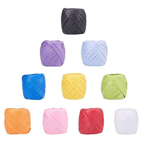 n 21,9Meter Papier Kordeln Papier Craft Ribbon Bindfäden Taue Saiten für DIY Schmuck Machen, gemischte Farbe, 5~ 7mm ()