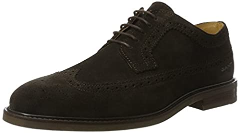 GANT FOOTWEAR Herren Ricardo Brogues, Braun (Dark Brown), 45 EU
