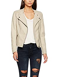 ONLY Damen Jacke Onlava Faux Leather Biker Otw Noos