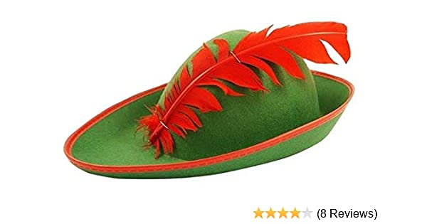 Adult Robin Hood Green Hat Bavarian Style Fancy Dress Robinhood Fancy Dress  Cap  Amazon.co.uk  Toys   Games 932a325f4ba9