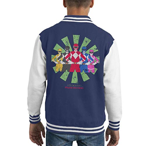 Power Rangers Retro Japanese Kid's Varsity Jacket