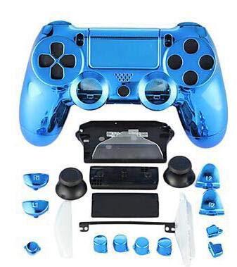zgehäuse für PS4 für Playstation 4 DualShock 4 Wireless Controller Chrom Blau ()