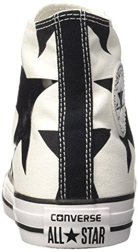 Converse Ctas Hi, Sneakers Femme Multicolore (White/black/white)