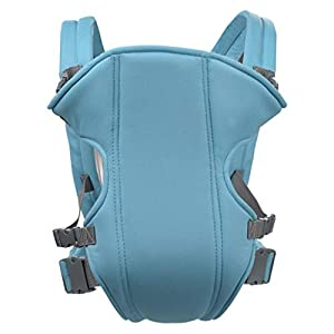 Viahwyt Infant Backpack Wrap Baby Carrier Slings Safety Baby Front Back Carrier Harness with Hood for Newborn Infants Toddlers Light Blue   14